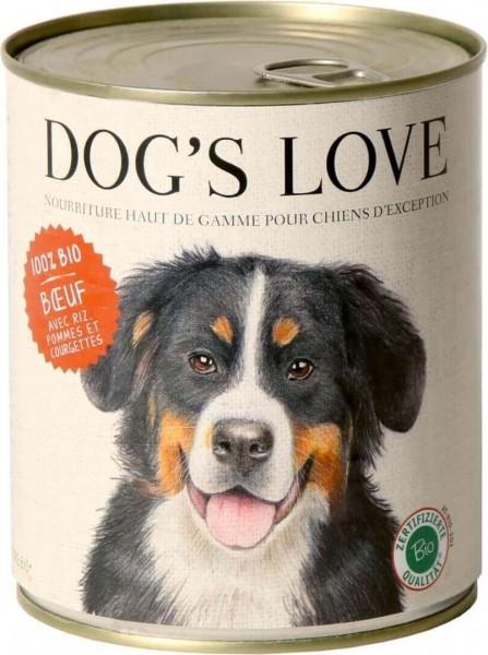 Pâtée BIO 100% naturelle Dog's Love au boeuf
