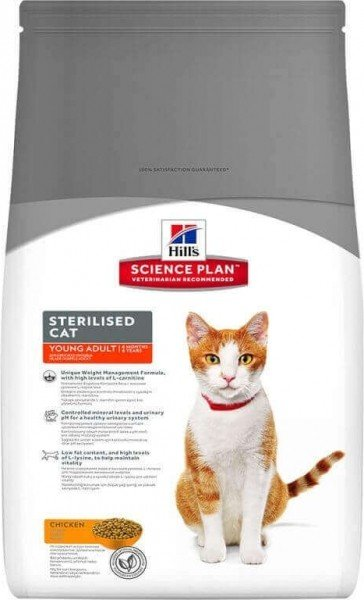 HILL'S Science Plan Sterilised Young Adult Poulet pour chat stérilisé