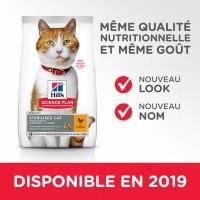 HILL'S Science Plan Feline Young Adult Sterilised Poulet pour chat stérilisé