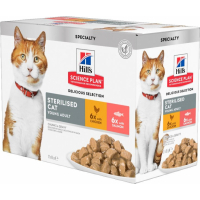 Hill's Feline Sterilised Cat Multipack Poulet Saumon 12 x 85g