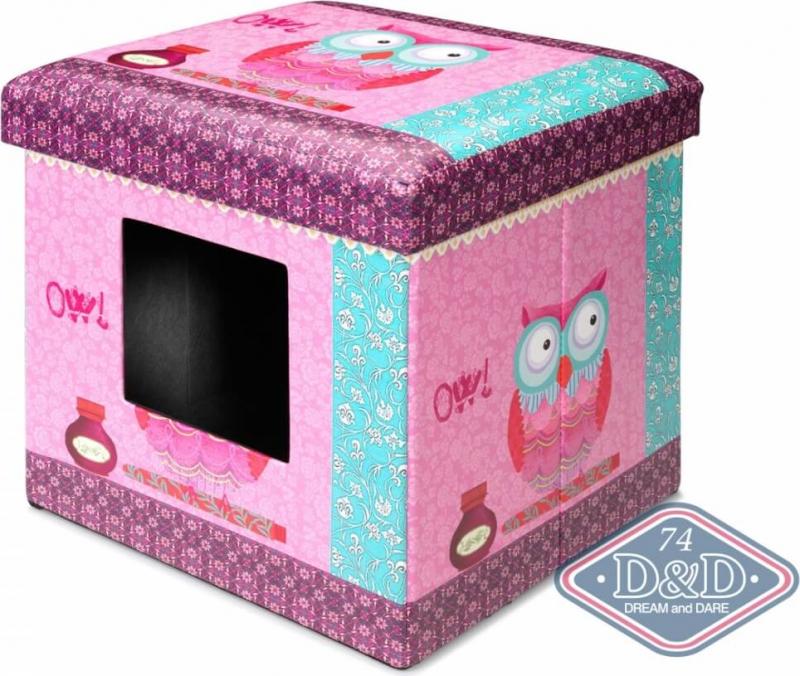 Pouf Chat Ottoman Pink