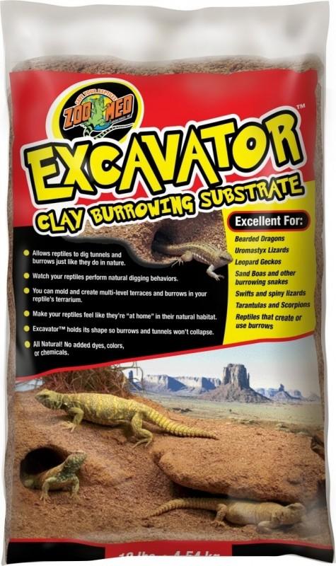 Zoomed Excavator Substrat d'argile modelable pour reptile