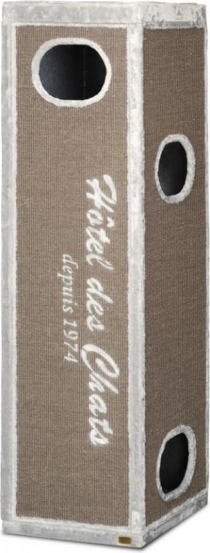 2en1 tour griffer et arbre chat trend rockefeller 180cm gris. Black Bedroom Furniture Sets. Home Design Ideas