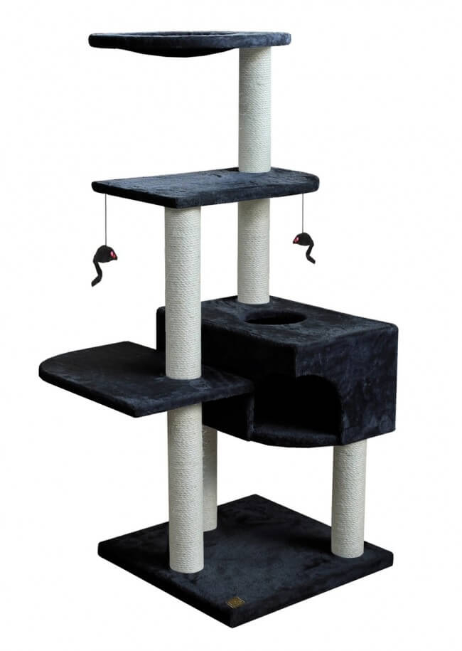 arbre chat climber home h145 cm black arbre chat. Black Bedroom Furniture Sets. Home Design Ideas