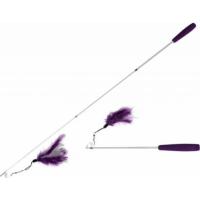 Telescopische hengel 35-95 cm, paars en wit