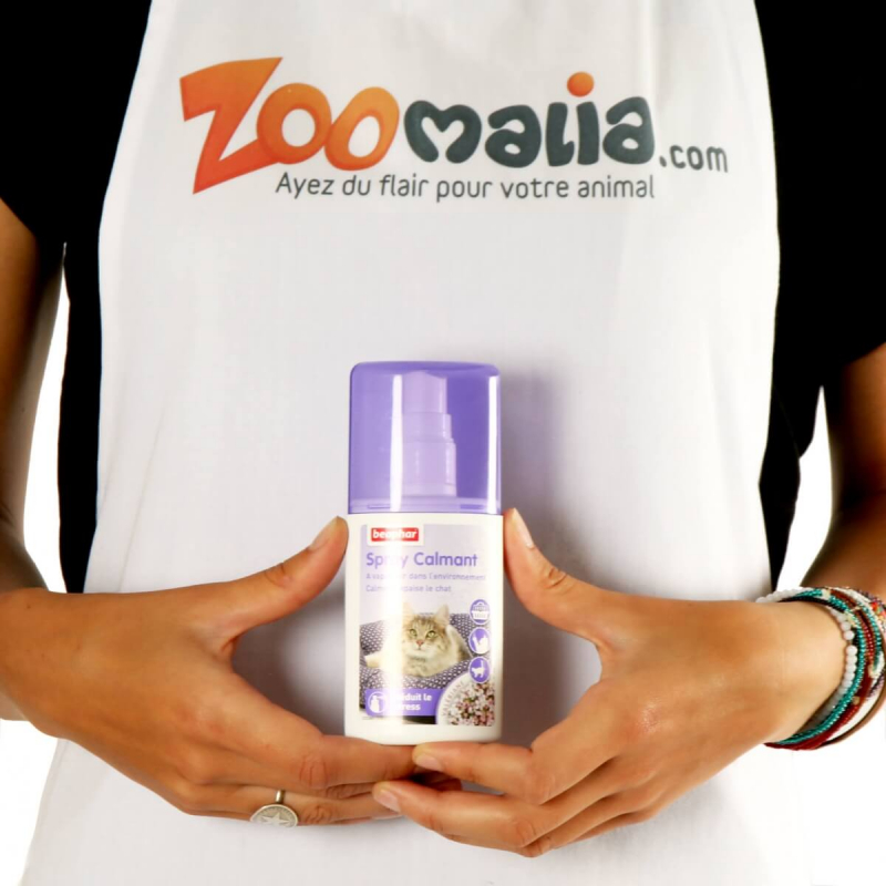 Spray calmant à vaporiser, réduit le stress du chat et du chien