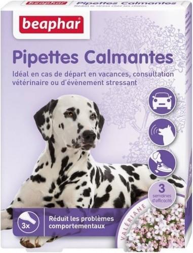Pipettes calmantes pour chien