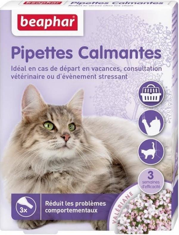 Pipettes calmantes pour chat