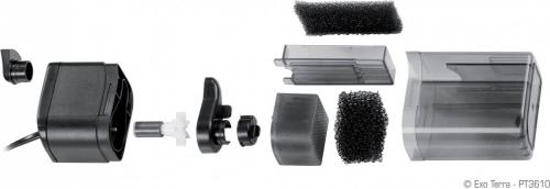 repti clear f250 filtre compact pour aqua terrarium pompe et filtre. Black Bedroom Furniture Sets. Home Design Ideas