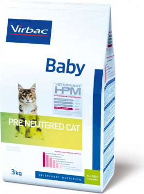 Virbac Veterinary HPM Baby Pre Neutered pour chaton ou chatte en gestation