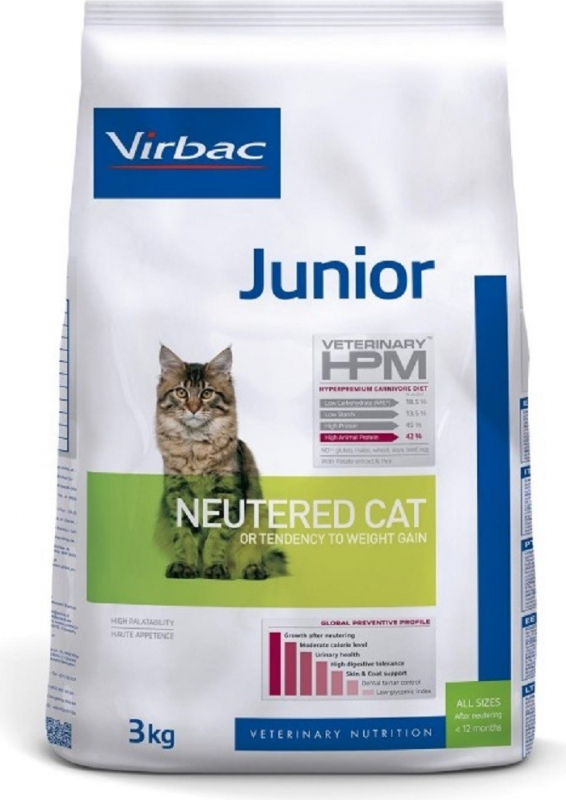 Virbac Veterinary HPM Junior Neutered para gatito esterilizado