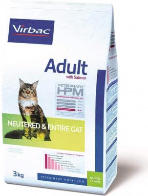 Virbac Veterinary HPM adult au saumon pour chat adulte