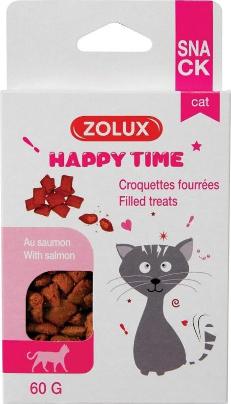 Happy Time friandises fourrées au saumon pour chats