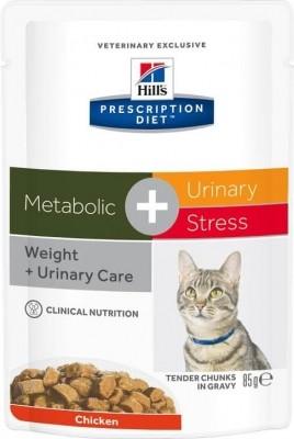 Pâtée HILL'S Prescription Diet Feline Metabolic+Urinary Stress 12x85g