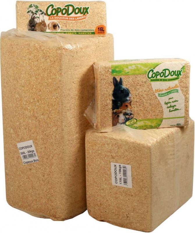 Copeaux sans poussière Copodoux 1 à 20kg
