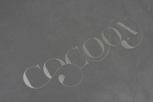 abziehbares Kissen Cocoon in grau