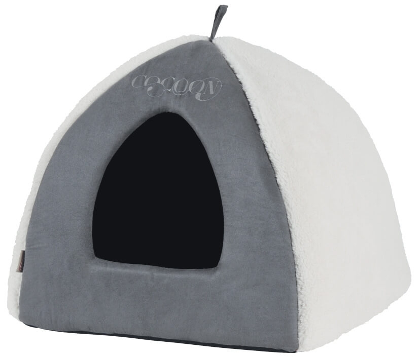 Igloo chat cocoon gris couchage chat for Izigloo avis