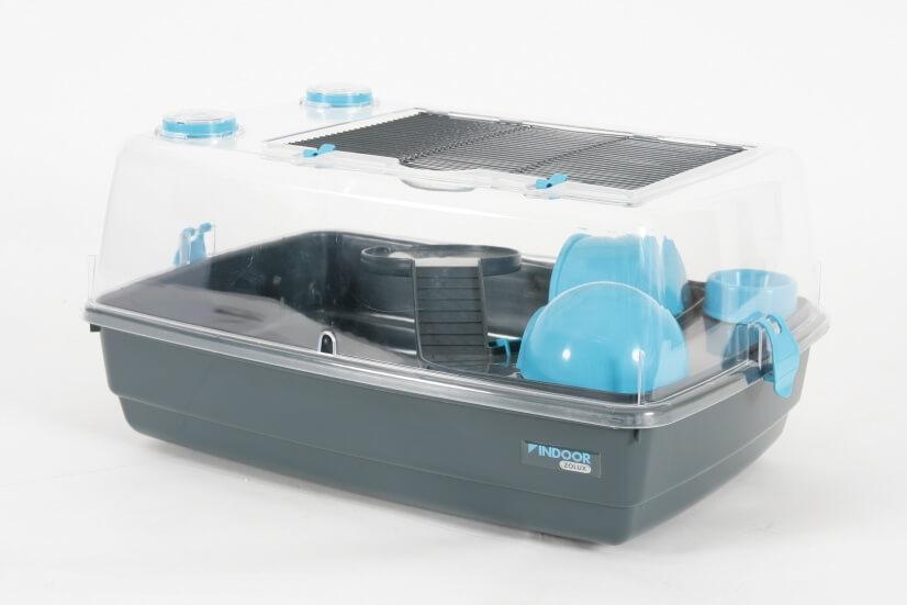 cage indoor vision 360 bleue pour hamster et souris cage. Black Bedroom Furniture Sets. Home Design Ideas