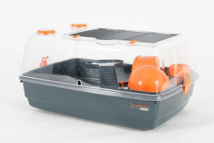 cage indoor vision 360 orange pour hamster et souris. Black Bedroom Furniture Sets. Home Design Ideas