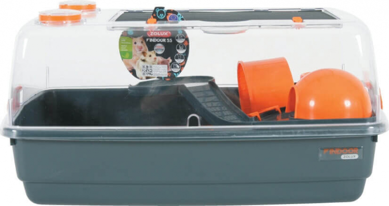 Gabbia Indoor vision 360 arancione per Criceti e Topi