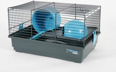 Cage Indoor 40 cm pour hamster bleue grise