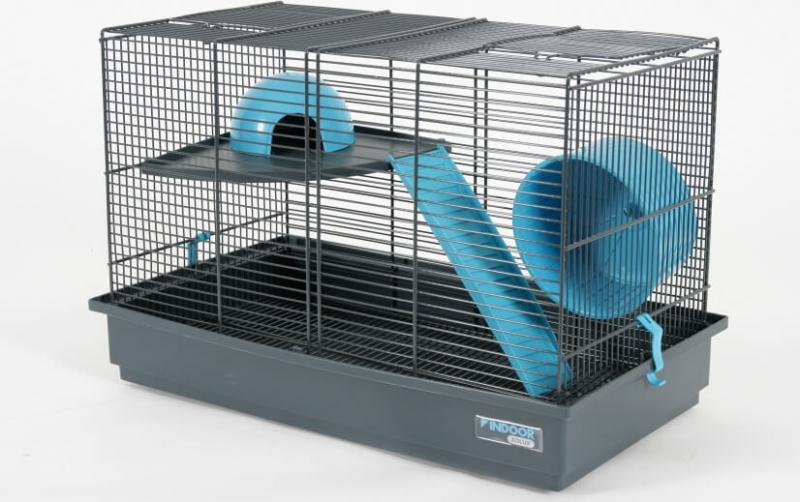 k fig indoor 50 cm f r degus m use und hamster in blau grau. Black Bedroom Furniture Sets. Home Design Ideas