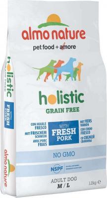 Croquettes Almo Nature Holistic Grain Free Porc frais et pommes de terre