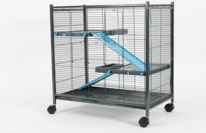 Cage Indoor mini loft bleue grise