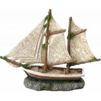 Decoración pecio AQUA DELLA SAILOR SHIP -3- ca.20x6,5x16cm
