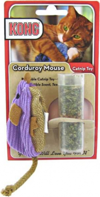 Kong Corduroy Mouse with Catnip