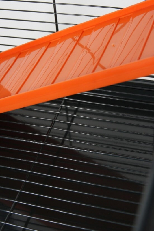 Cage Indoor maxi loft 1 pour chinchillas et furets orange grise