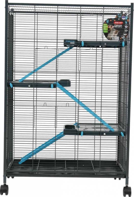 Cage Indoor Maxi Loft 2 Bleu pour Rat et Furet