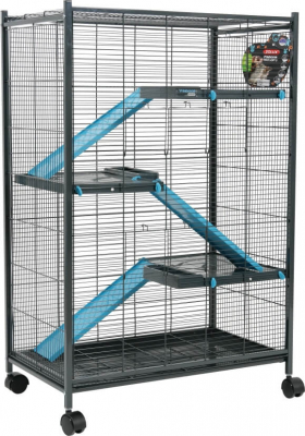 Cage Indoor maxi loft 2 pour rats, chinchillas et furets bleue grise