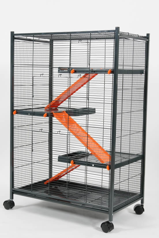 cage indoor laxi loft 2 orange pour rat et furet cage rat. Black Bedroom Furniture Sets. Home Design Ideas