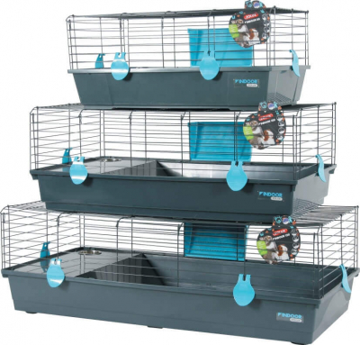 Indoor Cage for Rabbits and Guinea Pigs - Blue