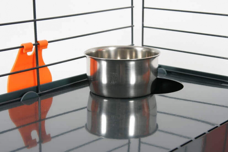Cage Indoor pour lapin, cochon d'inde orange grise