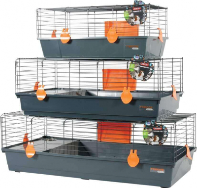 Indoor Cage for Rabbits and Guinea Pigs - Orange