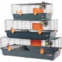 Cage Indoor pour lapin, cochon d'inde orange grise