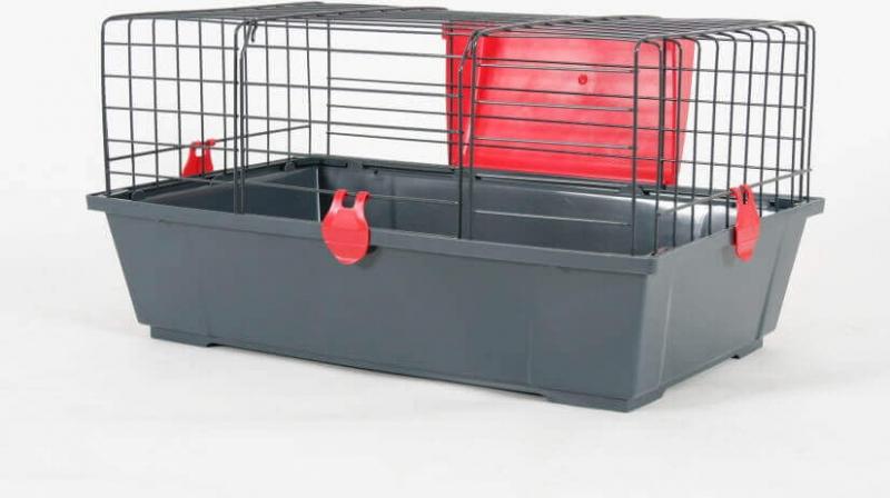 Kooi Classic rood grijs voor konijnen en cavia's