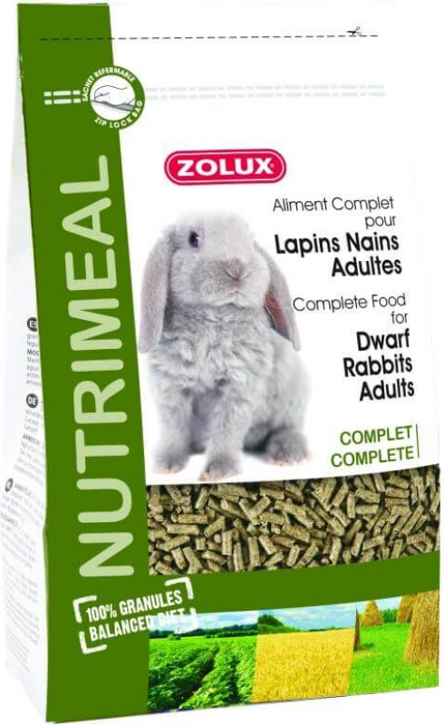 Granulés lapin nain adult nutrimeal