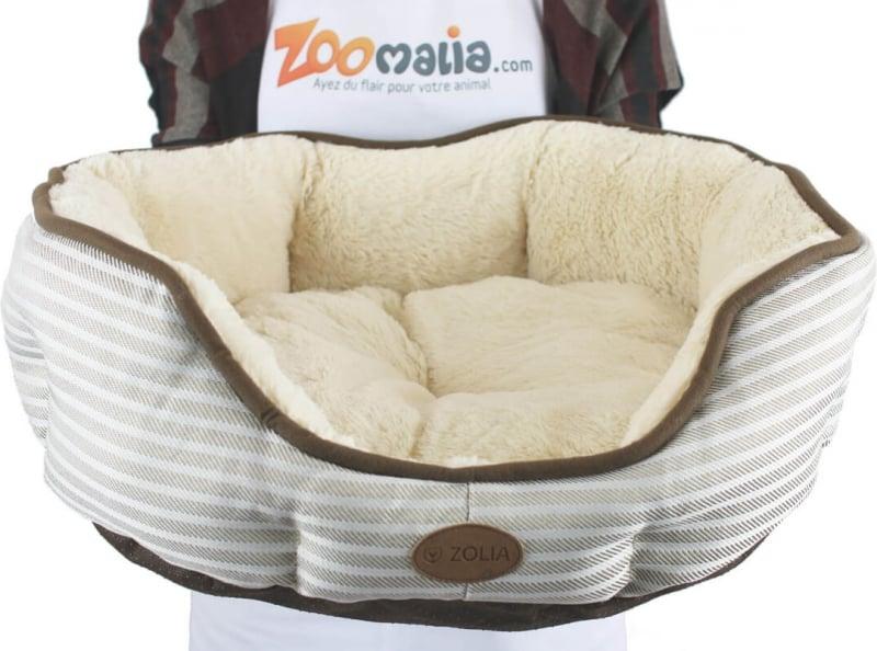 Panier douillet crème pour chat et petit chien Zolia Otto
