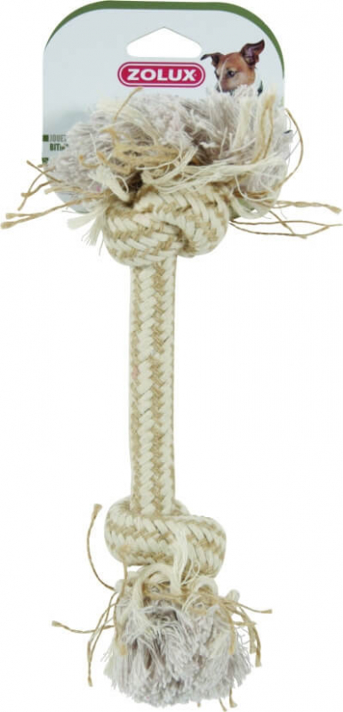 Jouet corde 2 noeuds nature