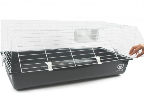 Cage Zolia Onyx 100 Ambiente pour Lapin et Cobaye