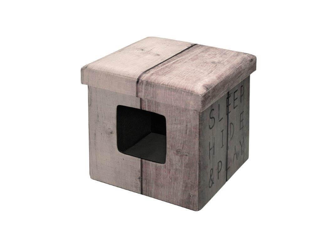 pouf chat ottoman brown panier et corbeille. Black Bedroom Furniture Sets. Home Design Ideas