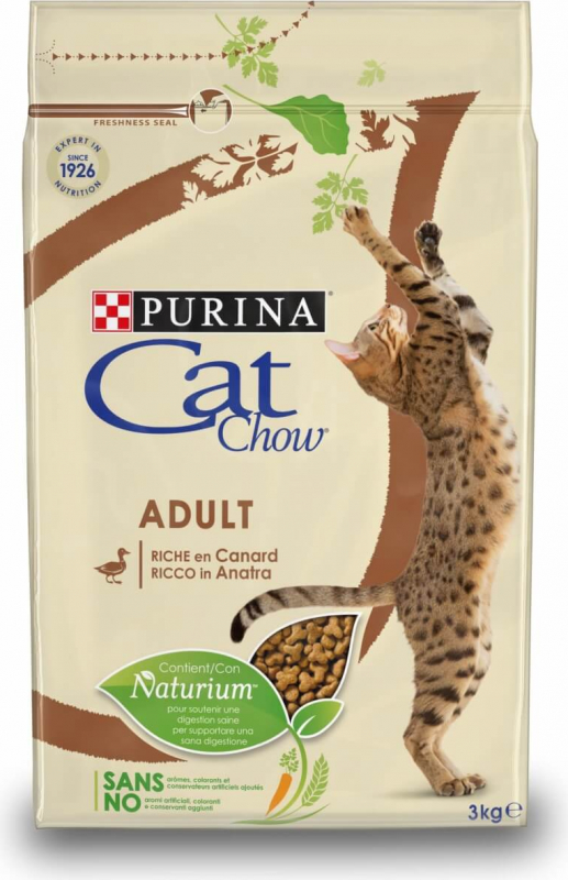 CAT CHOW ADULT pour chat riche en Canard