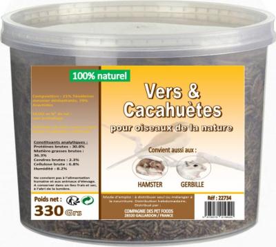 Vers de farine et cacahuètes pour poules, oiseaux, gerbilles, hamster LIFTLAND