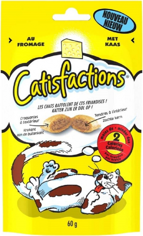 Friandises Catisfactions au Fromage pour chat et chaton