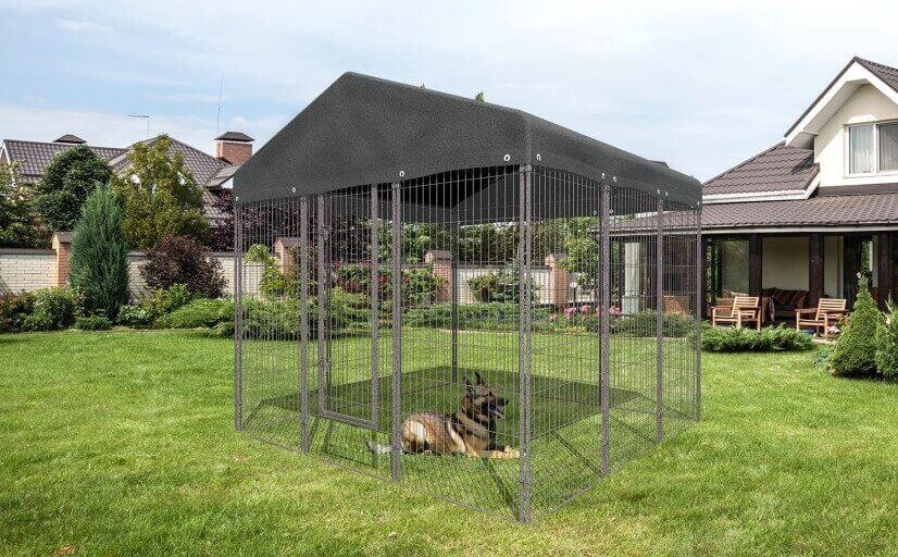 kit chenil d 39 ext rieur en m tal chenil pour chien. Black Bedroom Furniture Sets. Home Design Ideas