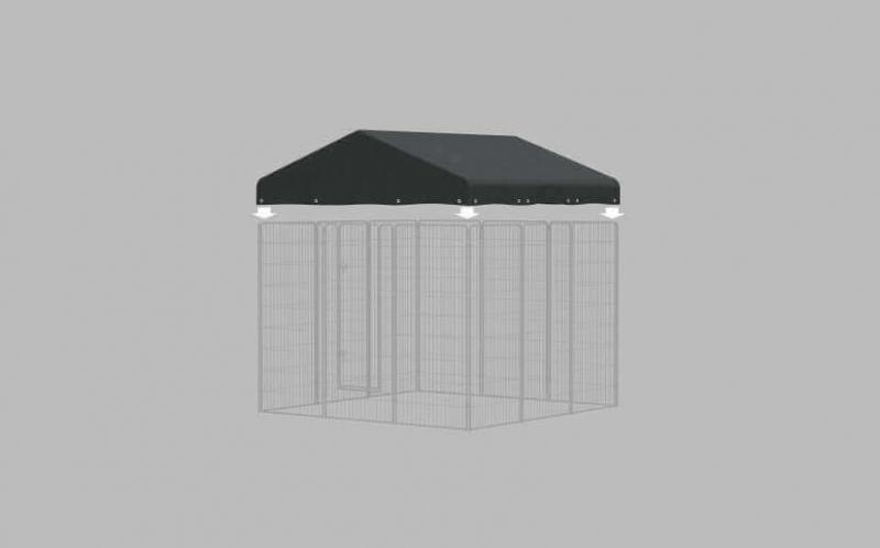 Kit Chenil d'extérieur en métal