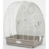 Cage Arabesque Alice 40cm grise avec fond métal - H47cm